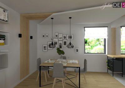 Projekt wnętrz domu jednorodzinnego w Żorach