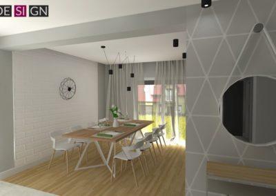 Projekt wnętrz domu w  Żorach
