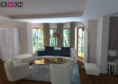 Projekt wnętrz parteru domu w Żorach
