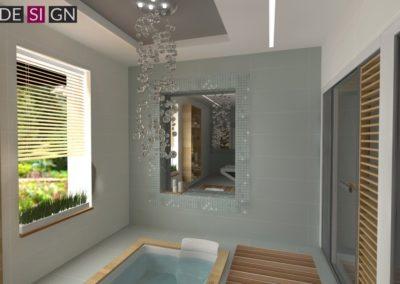 Projekt łazienki domowego spa dom w Żorach