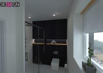 Projekt łazienki  dom w Żorach