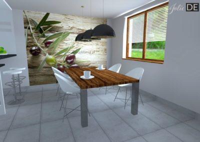 Projekt kuchni dom w  Żorach