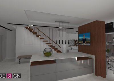 Projekt wnętrza domu jednorodzinnego w Orzeszu