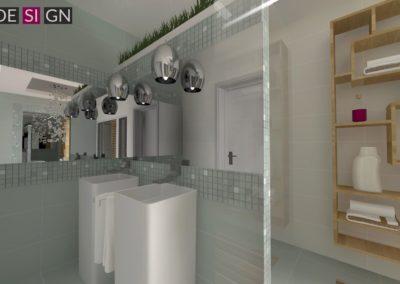 Łazienka-czść z umywalkami