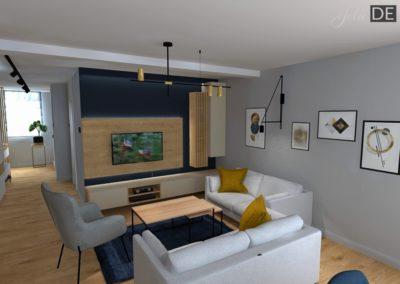 Projekt wnętrz – Dom w Rybniku