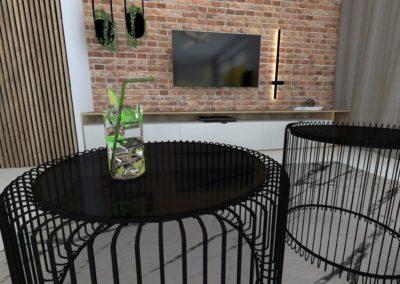 Projekt wnętrz – Dom parterowy w Żorach