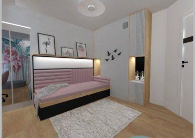 Projekt pokoju dziewczynki – Dom w Żorach